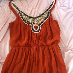 3 for $12 Beaded Orange Maxi Dress